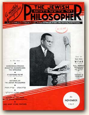 The Jewish Philosopher, A Monthly Magazine